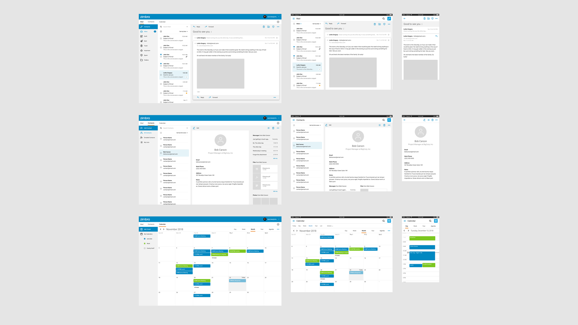 Zimbra | Timothy Stegner - Product Design + Research + Collaboration